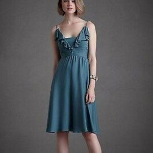 BHLDN Anthropologie Quilaree Silk Tide Blue Couple